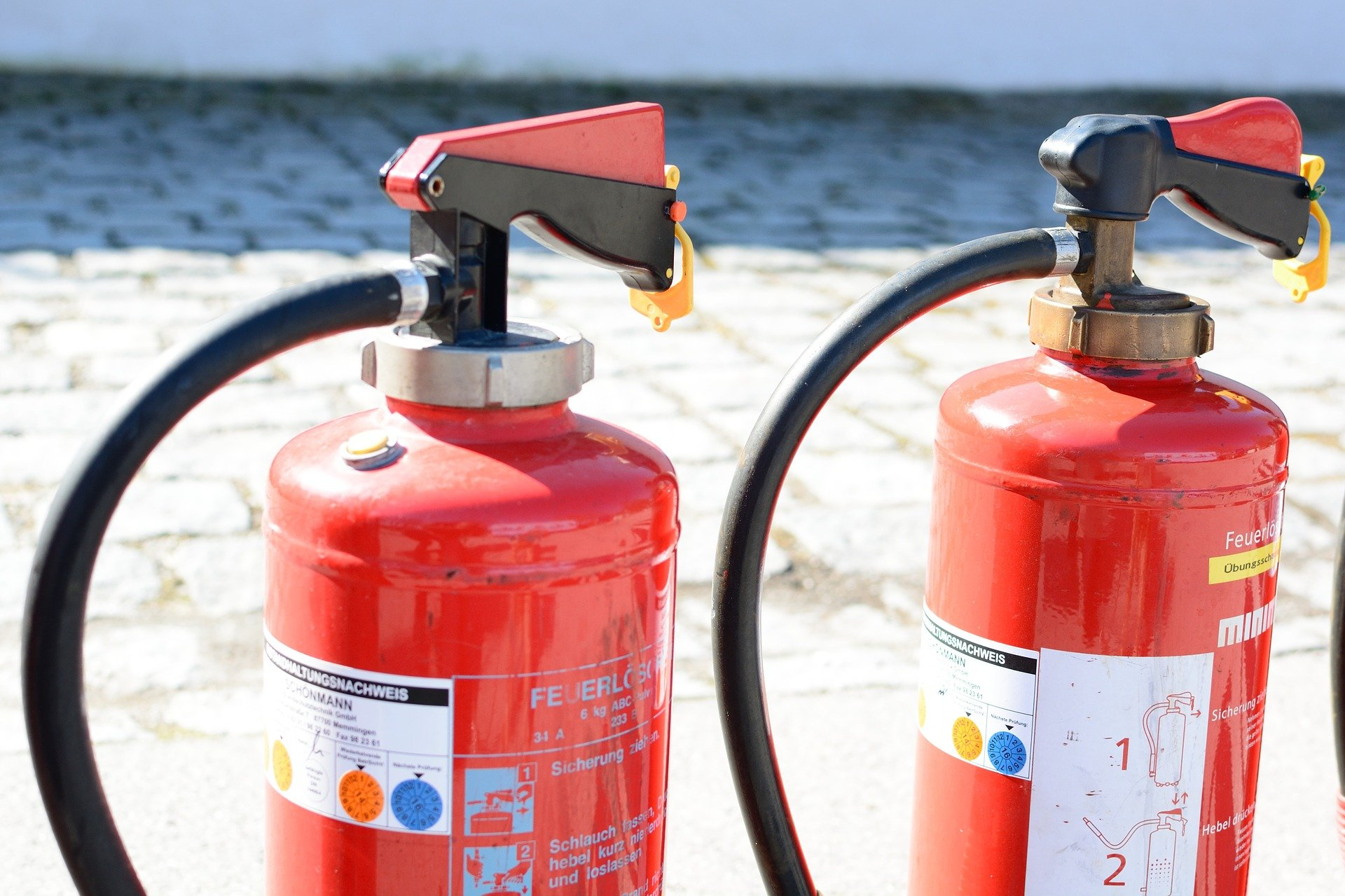 Use of portable and wheeled fire extinguishers