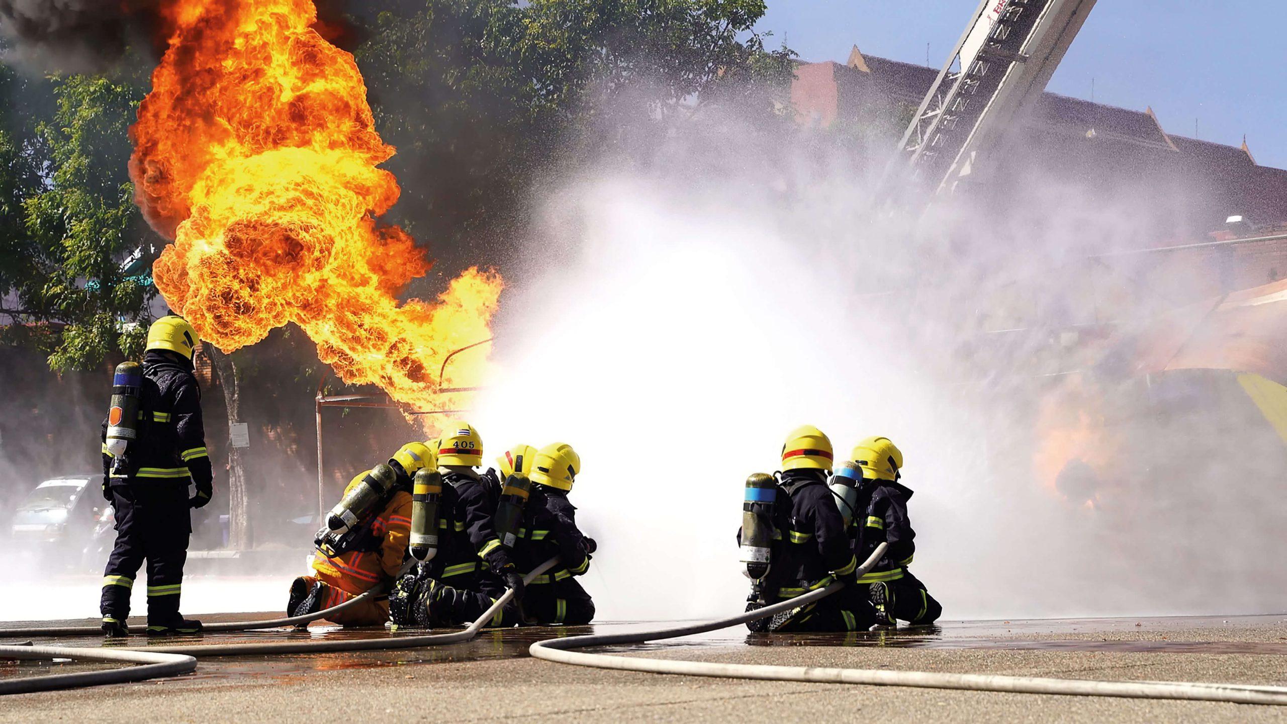 Antincendio avanzato per squadra di emergenza con utilizzo di autoprotettore